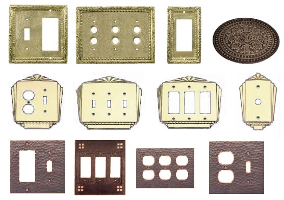 vintage_brass_copper_light_switch_covers_outlets_gfi_plates4e19