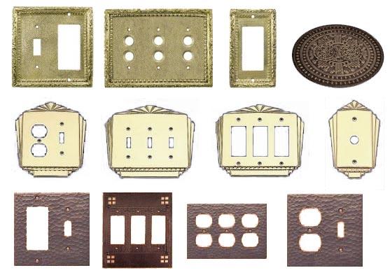 Vintage Br Copper Light Switch Covers Outlets Gfi Plates4e19